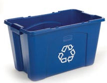 Rubbermaid 5714-73 53 Litre Recycling Box Recycling Boxes