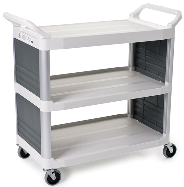 Rubbermaid 4092 X-Tra Utility Cart Enclosed End Panels on 2 sides