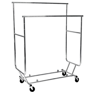 Double Salesman Garment Rail Rack