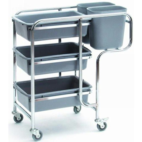 Collector Cart - Cutlery & Crockery Pickup Trolley