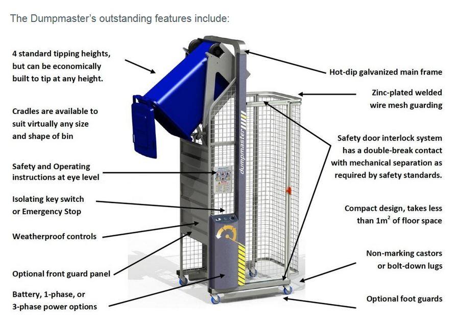 Hydraulic Vertical Lift Dumpmaster Bin Tippers Amp Bin Lifters