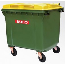 SULO 1100 Litre Flat Lid Wheelie Bin with/without lid opening device