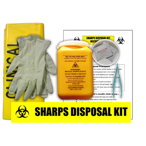 Sharps Clean Up Kit - Sharps Disposal