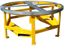 Paldisc Ultra Low Profile Pallet Turntable Loading Unloading