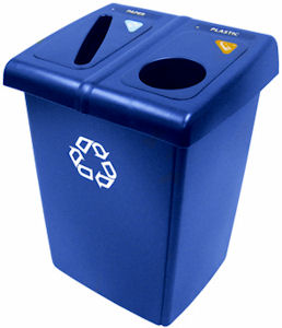 Rubbermaid 1792339 2-Stream Glutton Recycling Station