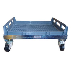 Galvanised Bread Crate Dolly for Nally IH323