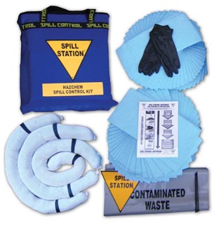 Hazchem Spill Control Kit for Spills up to 50 Litres