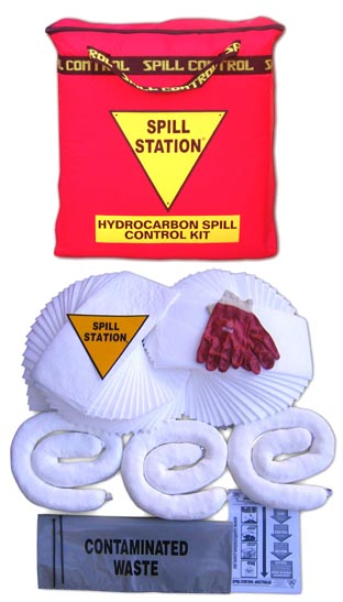 Oil and Fuel Spill Control Kit for Spills up to 50 Litres