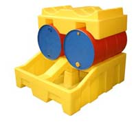 Poly Racker Holds Two 205 Litre Drums Securely