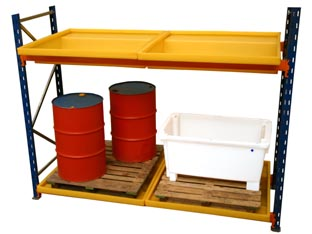 Spill Bunding to Suit Existing or New Pallet Racking