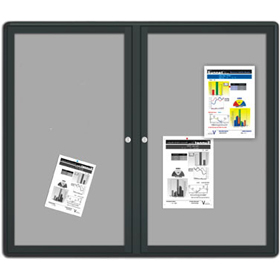 Enclosed Literature Board - Lockable with 2 Doors
