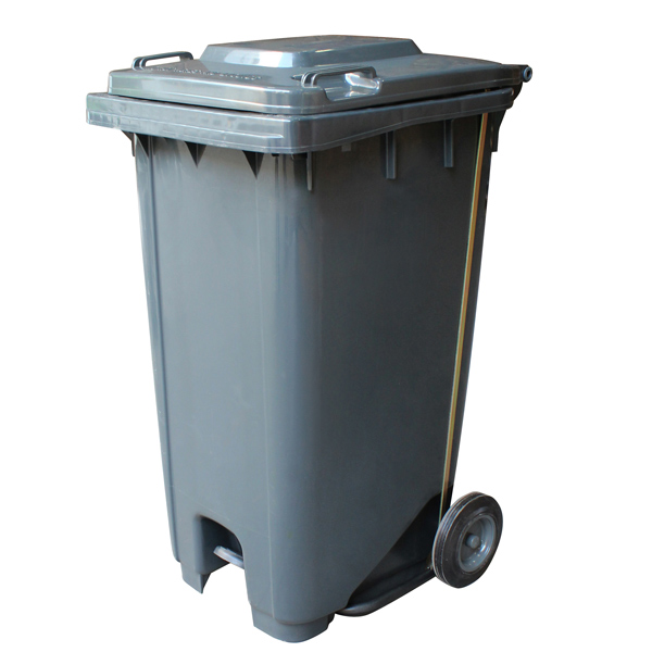 Foot Operated 120 Litre Wheelie Bin With Pedal Bin