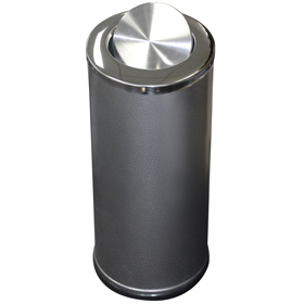 Hammertone Bin with Stainless Steel Swing Top Lid