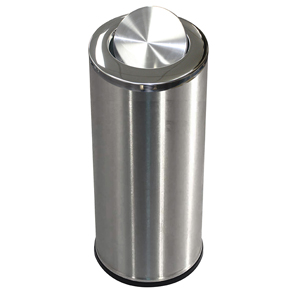 Stainless Steel Waste Bin with Swing Lid