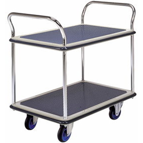 Prestar NF304 Dual Handle Double Layer Service Cart Trolley