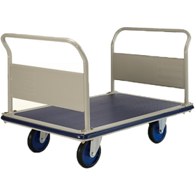 Prestar NG403 Double Pushrail Platform Flat Bed Trolley 500kg capacity