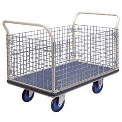 Prestar NG407 Platform Flat Bed  Trolley with mesh sides 500kg Capacity