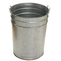 Galvanised 55 Litre Civic Bin w/ External Carry Handles