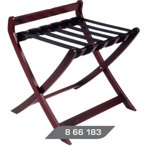 Deluxe Wooden Luggage Rack - Mahogany