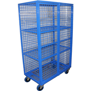 Cox Security Trucks - High Volume Fully Enclosed Wire mesh Trolley
