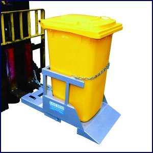 NWB Wheelie Bin Tipper (Mechanical) -Wheelie Bin Emptier for Forklifts