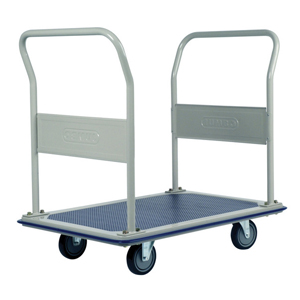 Jumbo Dual Handle Flat Bed Platform Trolleys