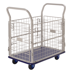 Prestar NB107 Platform Flat Bed Trolley with mesh sides 150kg capacity