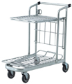Universal Flat Shelf 2 Tier Trolley with Tilting Tray 150kg - 50kg