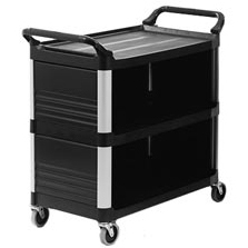 Rubbermaid 4093 X-tra Utility Cart Enclosed 3 Sides