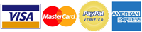 Visa, Mastercard, Amercian Express and Paypal Accepted Payment Methods