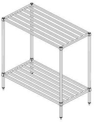 2 tier dunnage rack